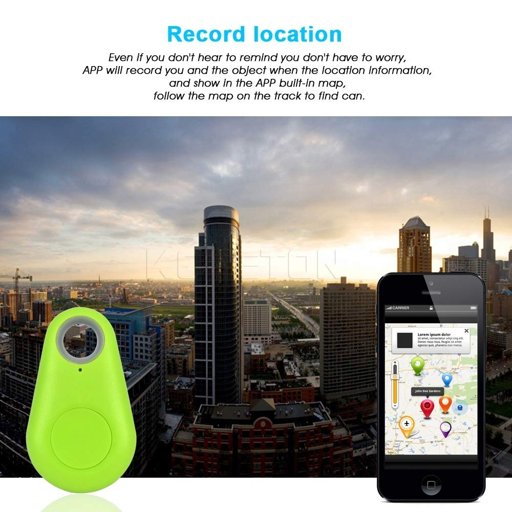 Sin bater/ía KCDE Rastreador Inteligente Mascotas Mini GPS Anti-Perdido Impermeable Rastreo Bluetooth Perro Gato Llave Bolsa Monedero Computadora Infantil