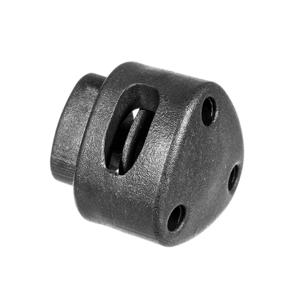 Black Plastic Triangle Toggle Stopper Cord Locks - Use with Clothing, Shoes, Paracord, and Rope (500 Pack) by West Coast Paracord