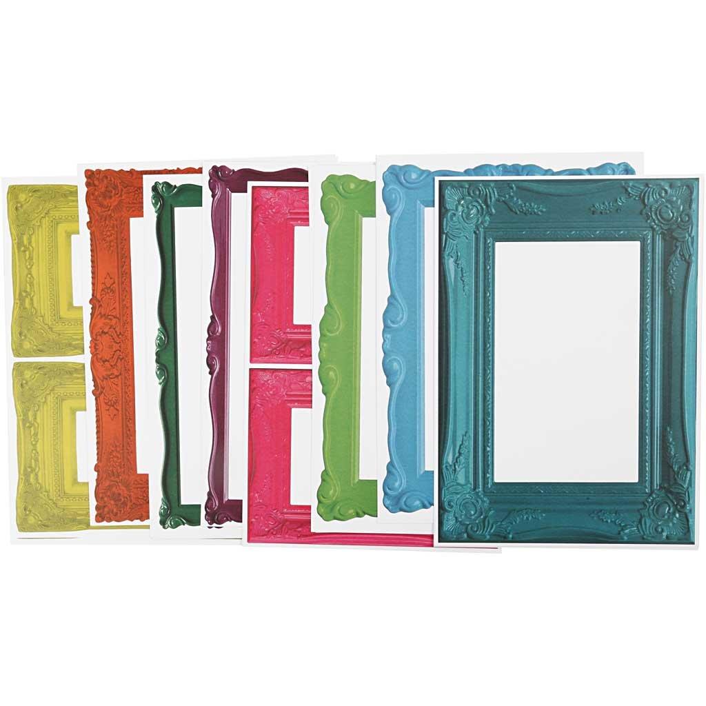 Cornici, foglio 26,2x18,5 cm, colori forti, 16fogli asst. Creativ Company