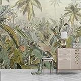 NXMRN Plante Tropicale Feuilles Or Papier Peint Imprimé Photo Photo Papier Peint Rouleaux Décoration Murale Peinture Pour Chambre Contact Papier 400Cmx280Cm