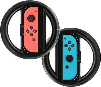 Steering Wheel, TopACE Pack de Dos Volante Racing Wheel para con Joycon Derecho Y Izquierdo de la Nintendo Switch (Negro): Amazon.es: Electrónica