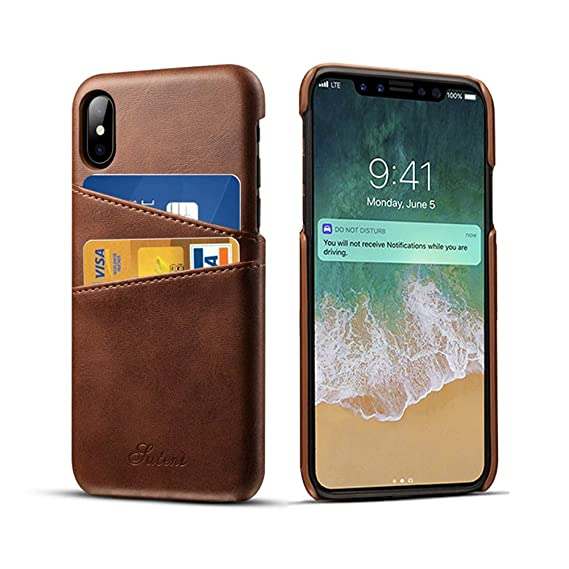 iphone xr leather case with card holder