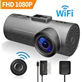 C1 Plus Dash Cam HaloCam IMX291 SONY Sensor FHD 1080P Car Cam WiFi Dashboard Camera with OBD-GPS 170 Wide Angle Super Night Vision G-sensor Loop Recording