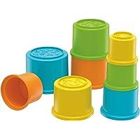 Fisher Price Renkli Kaplar, 8 Adet İç İçe Geçen Dizme Kapları, GCM79