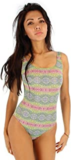 product image for One Piece Traditional Tank tan Through Bathing Suit