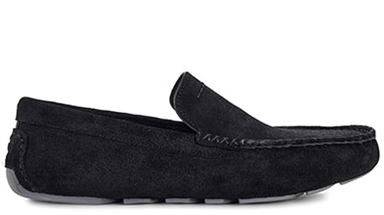 UGG Mens Henrick Suede Loafers In Black