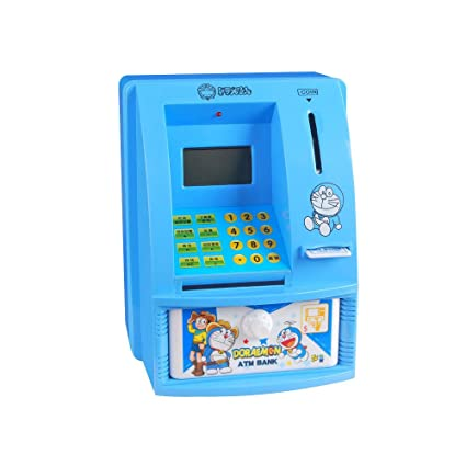 Personal ATM dinero, moneda banco máquina y pantalla digital