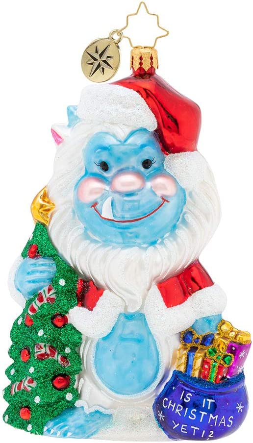 Christopher Radko Hand-Crafted European Glass Christmas Decorative Figural Ornament, is It Christmas Yeti? 61VfDNjpaIL