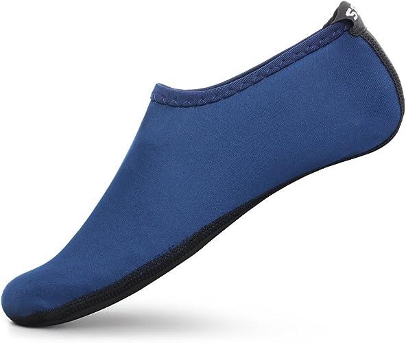 Amazon.com: senfi Unisex zapatos de piel agua Barefoot Aqua ...