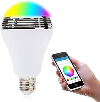 allimity Bluetooth Smart LED bombilla altavoz Smartphone App ...