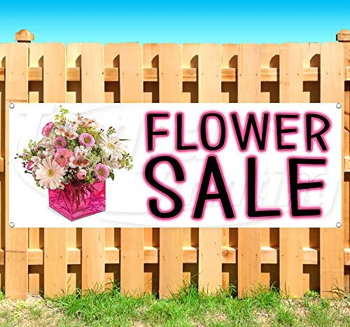 Flower Shop Now Open Extra Large 13 oz Heavy Duty Vinyl Banner Sign with Metal Grommets Flag, New Advertising Store Many Sizes Available