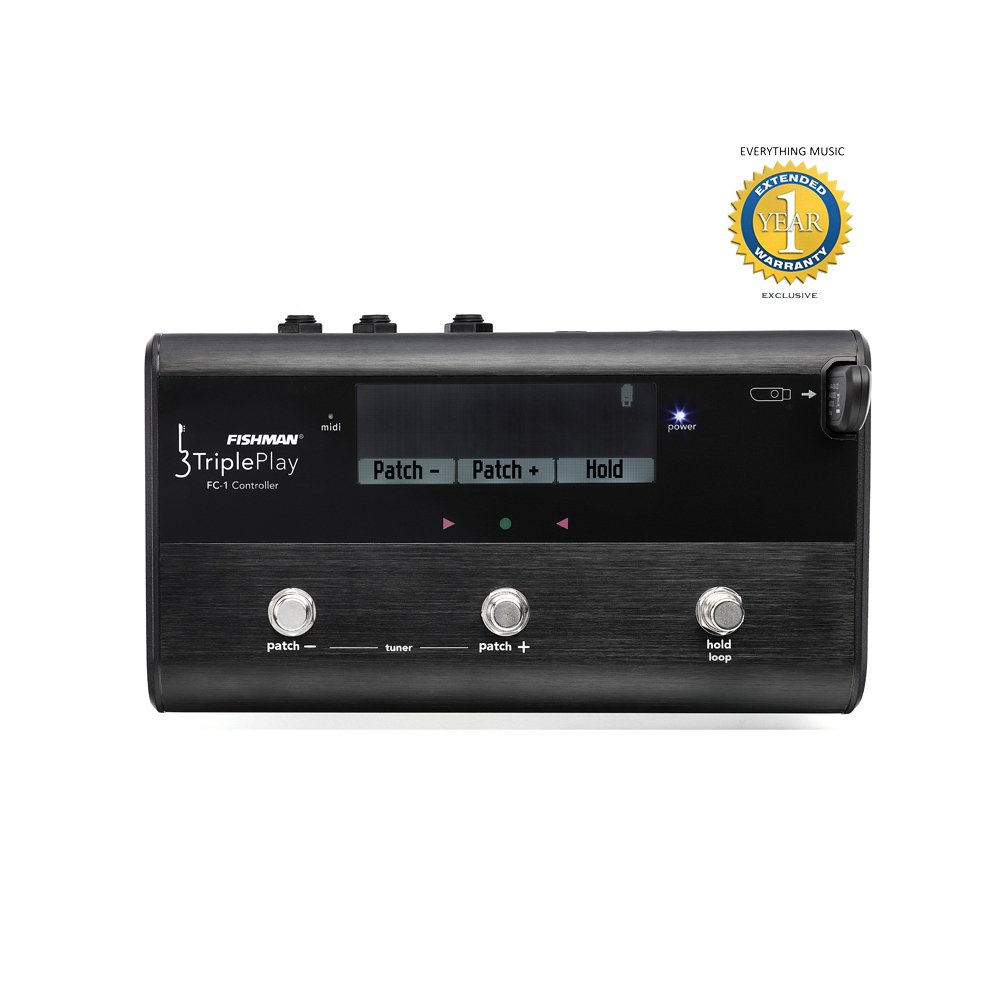 Fishman TriplePlay FC-1 MIDI Floor Controller for TriplePlay with 1 Year EverythingMusic Extended Warranty Free