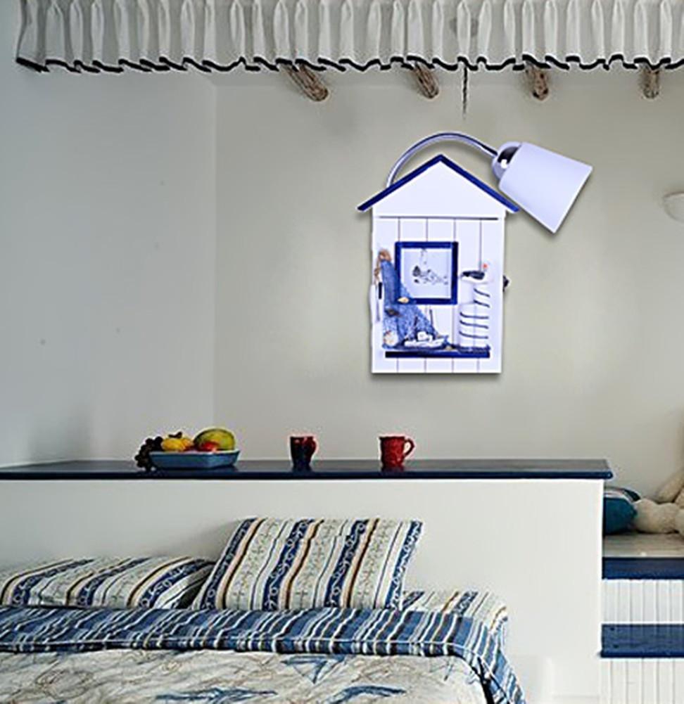 DMMSS Baby Creative Children Bedroom Bedroom Lamp Children'S Room Bedside Lamp Craft Wall Lamp