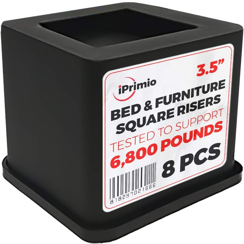 iPrimio Black Bed Risers (8 Pack)