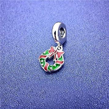 Calvas Christmas Charm Bead 925 Sterling Silver European Beads Fits Charms Silver 925 Original Bracelet Bangle Color: FQ796372CZ