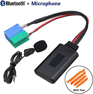 Car Radio bluetooth Adapter Aux in Cable + Tool & Microphone For Iphone for Porsche for Becker Cars