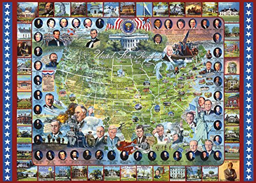 (White Mountain Puzzles US Presidents - 1000 Piece Jigsaw Puzzle)