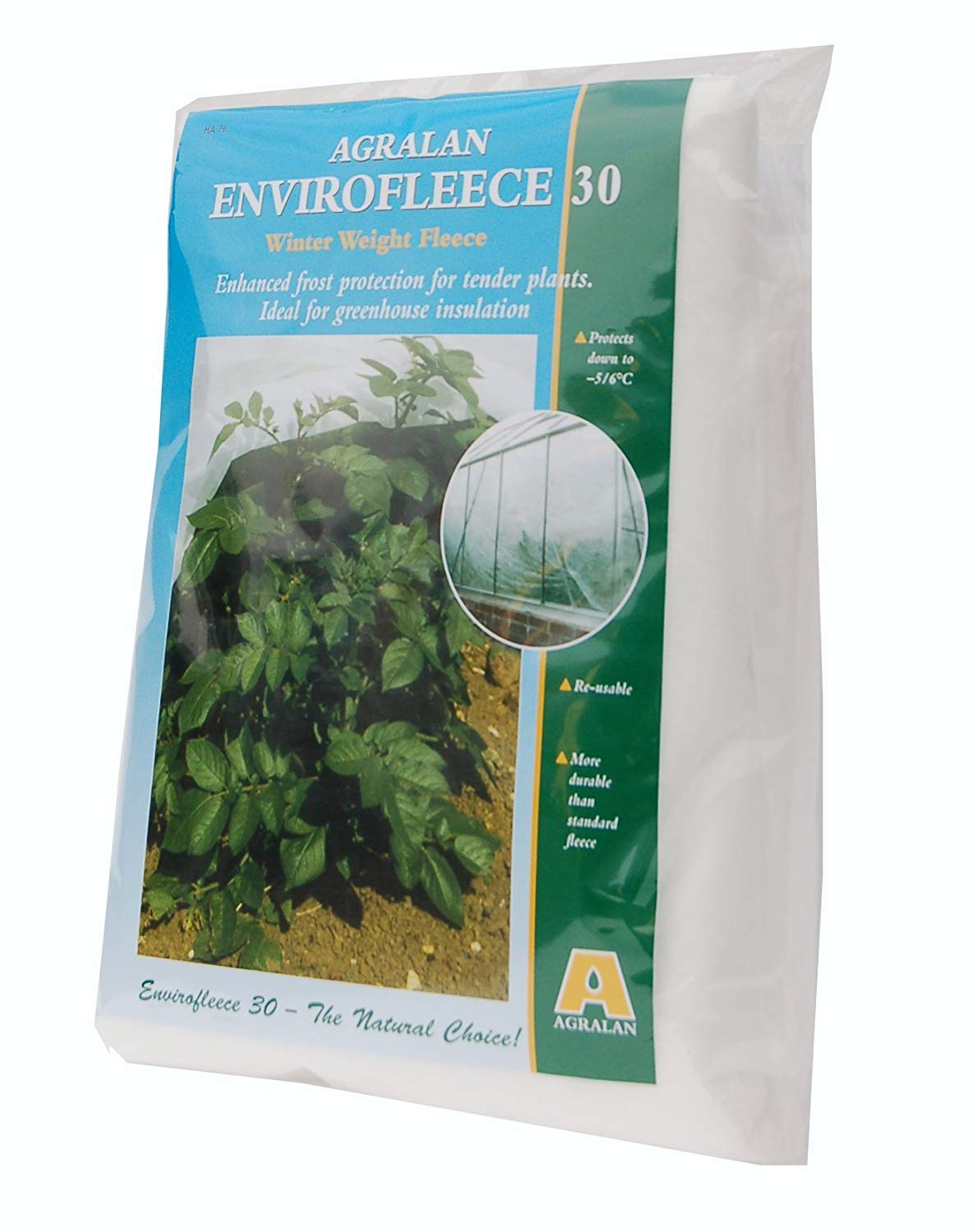 Agralan Heavy Duty 30g Garden Plant Envirofleece Winter Weight Fleece Frost Protection Allotment - Protects down to -6 - Many (1.6m x 10m)