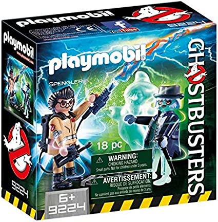 CAZAFANTASMAS Spengler and Ghost Playset de Figuras de Juguete, Multicolor, 6,6 x 14,2 x 14,2 cm (Playmobil 9224)