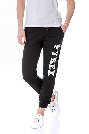 Pyrex Pantaloni Donna con Stampa Regular Fit 33312 XS Nero