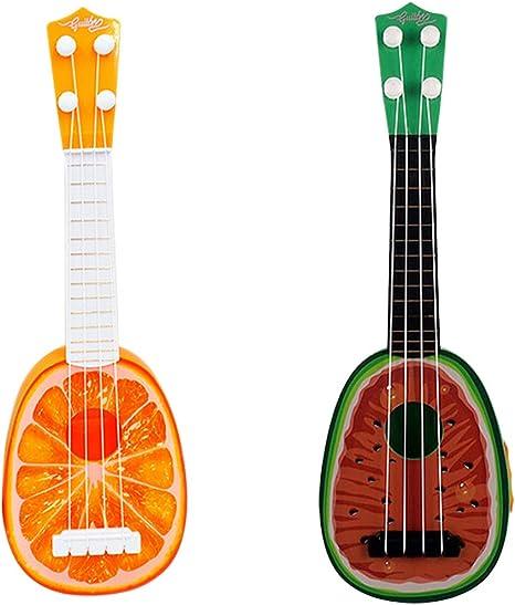 SUPVOX Juguete para tocar guitarra de ukelele para niños, fruta y ...
