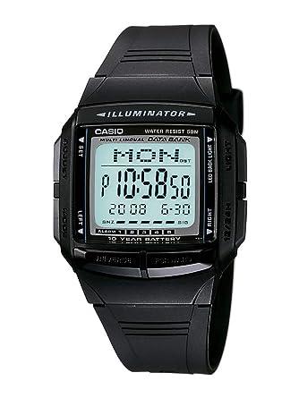 2dc7a14f121 Relógio Masculino Digital Casio Data Bank DB-36-1AV - Preto  Amazon ...