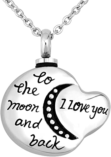 New I Love You to the Moon and Back Urn Cremation Memorial Necklace