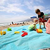 baby beach gear - Large Sand Free Family Beach Blanket Mat Best Sand-free Throw Baby Toddler Kids - 100% Sandless
