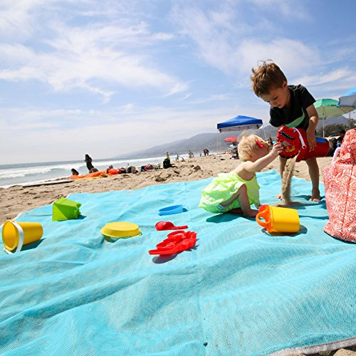 Large Sand Free Family Beach Blanket Mat Best Sand-free Throw Baby Toddler Kids - 100% - Baby Beach