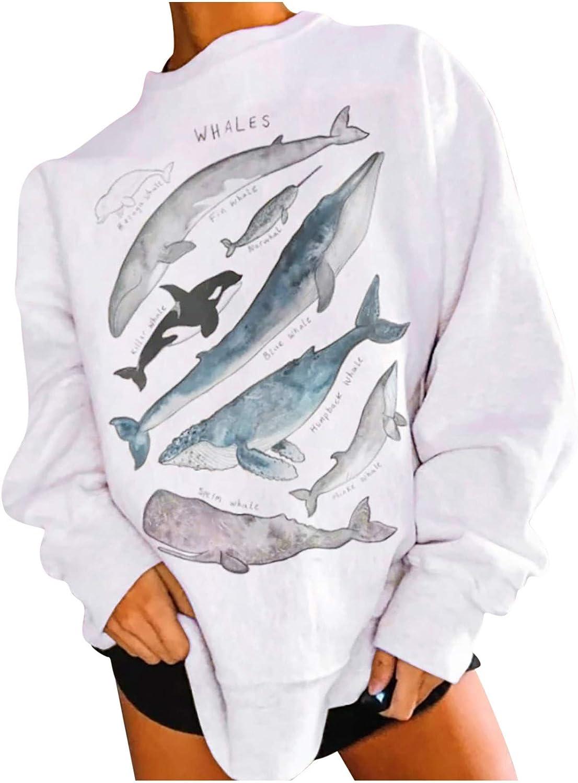 <span style=''>WOMEN LIGHTWEIGHT SWEATSHIRT FUNNY FISH GRAPHIC PR..</span>