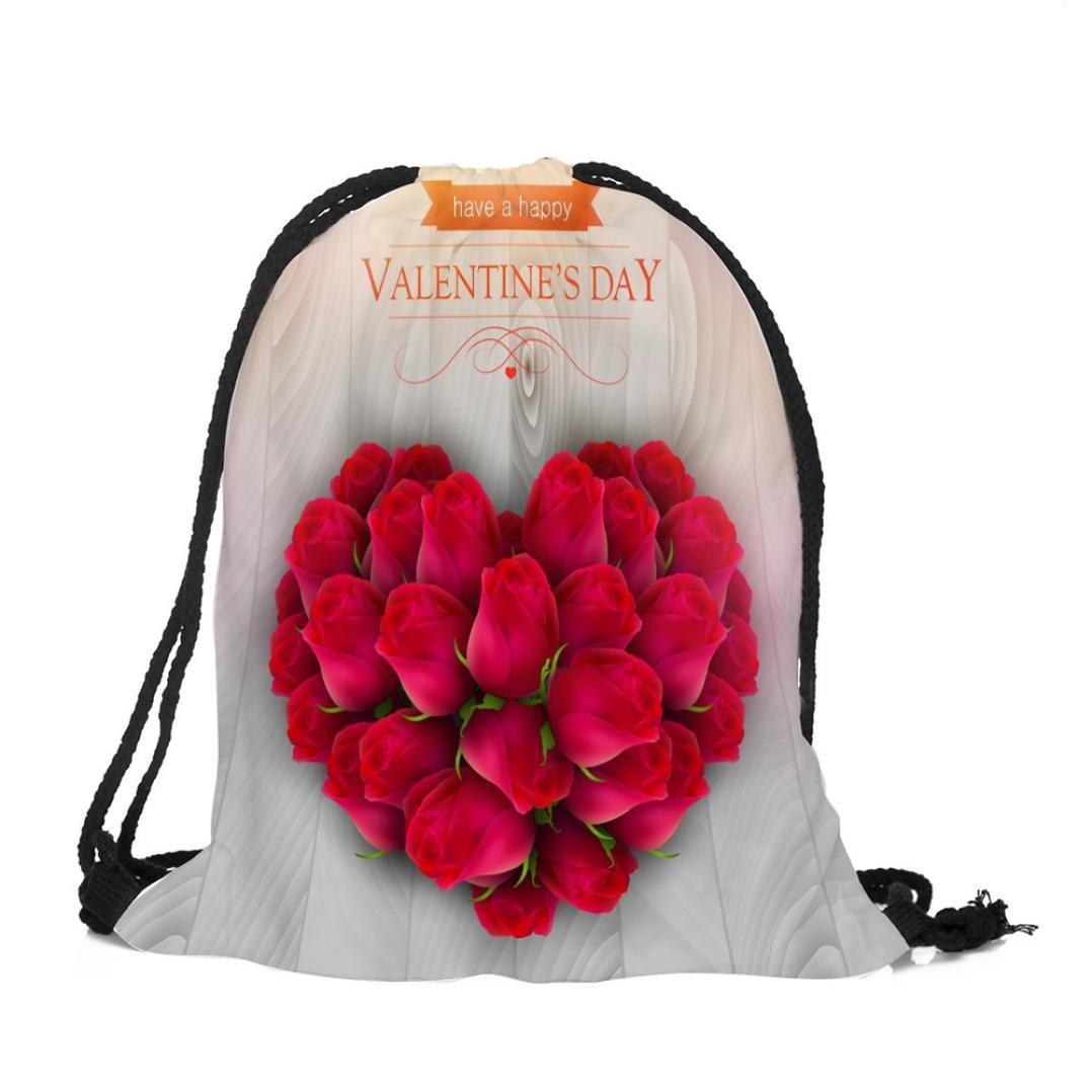 Drawstringバックパックスポーツジムバッグ – Happy Valentine 's Day Cartoonギフトキャンディ巾着バッグポーチバッグ、パーティーFavors GoodyバッグStuffersバンドルポケットストレージバッグティーンボーイズガールズ B078SWF94M  F