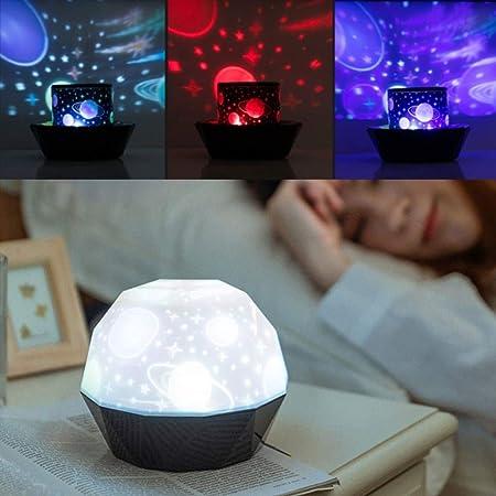 Proyector Giratorio de luz Nocturna Spin Starry Sky Star ...