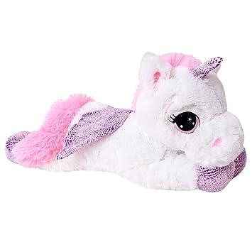 te-trend plüschpferd caballo unicornio unicorn peluche tumbado 45cm Púrpura glitzerhorn Grandes Ojos Blanco