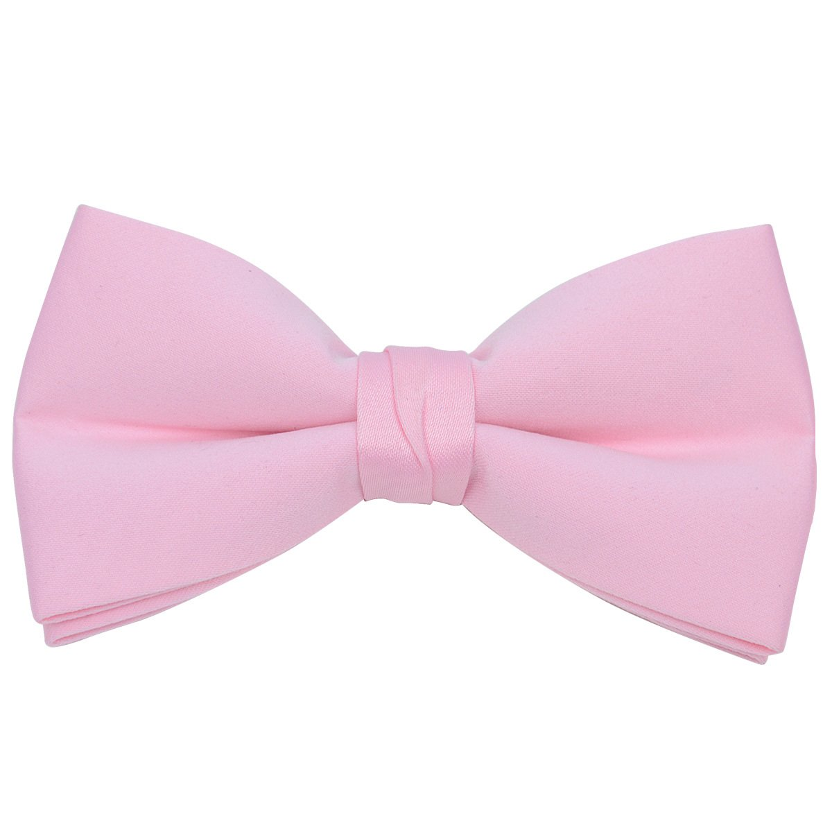 6 Pieces Pack Boy's Stylish Poly Satin Banded Clip On Bow Ties (Pink-6 Pack)