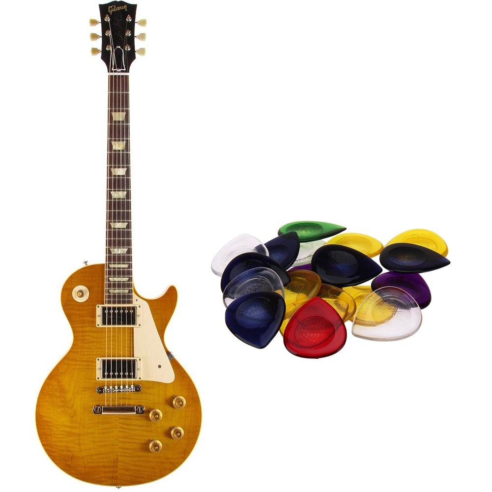 Púas de dedos para guitarra, 10 unidades, de resina de gotas de colores, para guitarra eléctrica acústica, bajo púas, púas: Amazon.es: Instrumentos ...