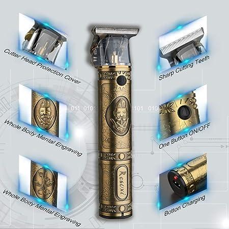 Xnuoyo Cortapelos USB Recargable Recortador de Barba Hombre Electrónico Cortar Pelo y Afeitadora para Adultos y Niños