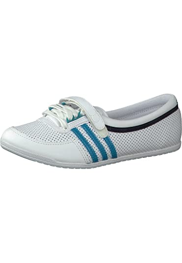 Adidas Originals Concord Round W Q20663 Ballet Flats, Womens, Whie/Turquoise