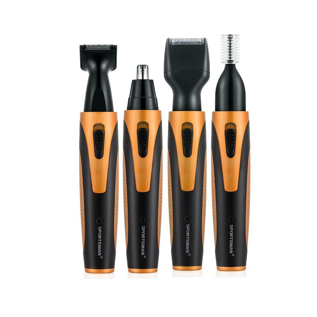 Beaums SPORTSMAN Nose Hair Trimmer USB 4 in 1 Rechargeable Nose Sideburn Eyebrow Beard Ear Hair Trimmer Men Women