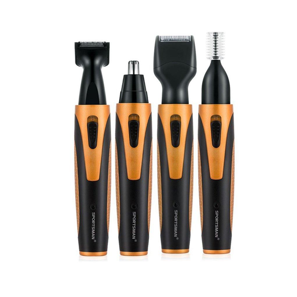 Minzhi SPORTSMAN Nose Hair Trimmer USB 4 in 1 Rechargeable Nose Sideburn Eyebrow Beard Ear Hair Trimmer Men Women