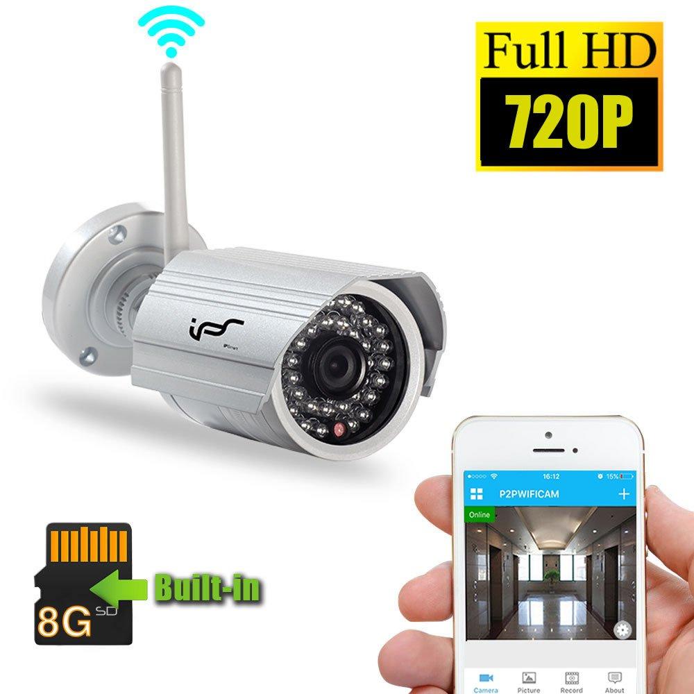 vigilancia Bullet WIFI IP cámara inalámbrica al aire libre IPSmart IP66 impermeable HD 720P 1.0 megapíxeles H.264 ONVIF con visión nocturna de larga ...
