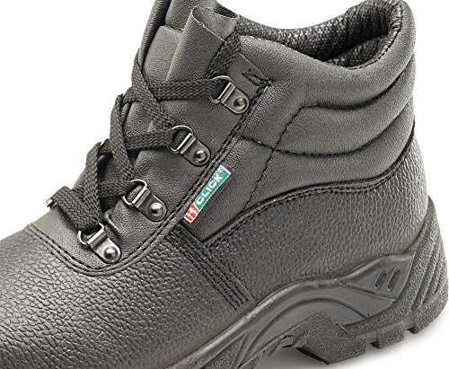 Click Dual Density Chukka D Ring Safety Boot Black - Size 38/5