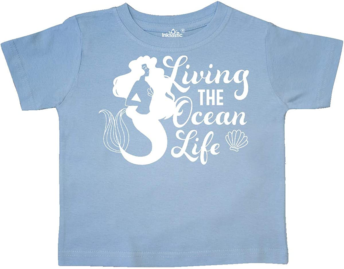 inktastic Living The Ocean Life with Mermaid Silhouette Toddler T-Shirt