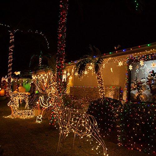 Haimtree led starry 150 leds 50 feet bundle adapter led for Amazon christmas decorations indoor