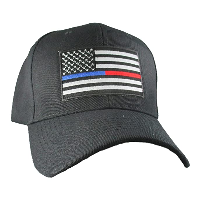 dc0e09233d3 AffinityAddOns Thin Blue Red Line USA Hat