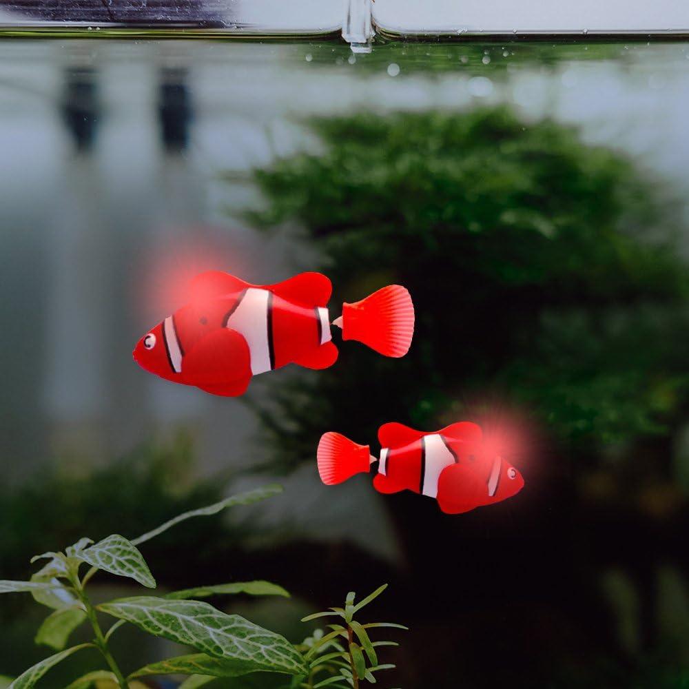 Lazzykit 2 Pcs Elektronisches Fisch Clownfisch Bad Wasserspielzeug Wasserspa/ß f/ür Kinder Hunde Katze Haustier