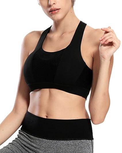 Sujetador Deportivo De Alto Impacto Deporte Sujetador Running Para Mujer Negro XL: Amazon.es: Ropa y accesorios