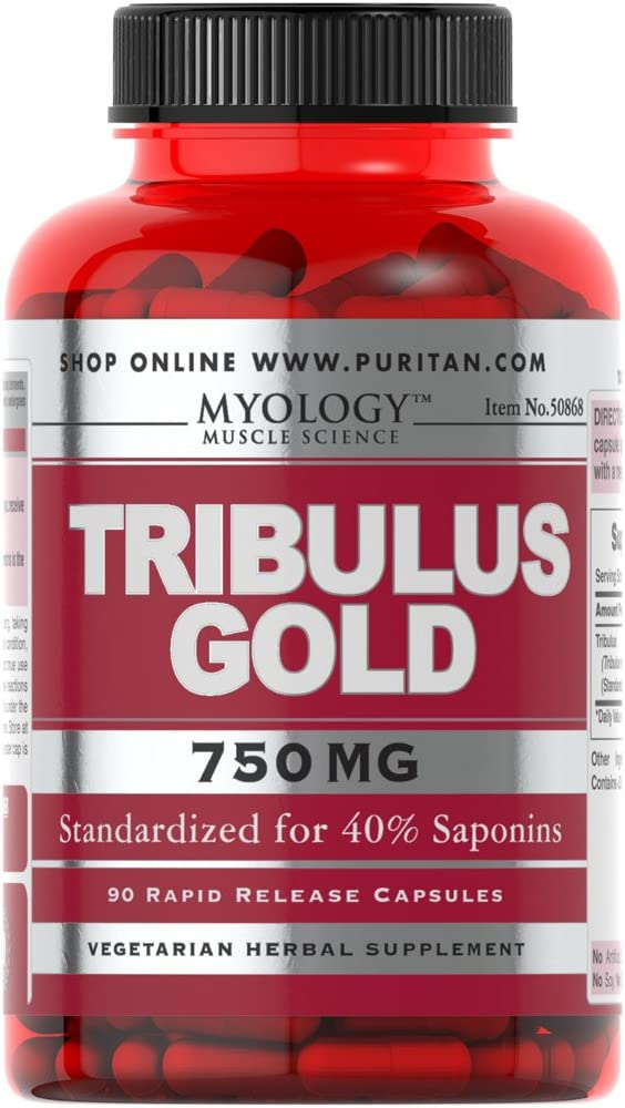 Myology Tribulus Gold Standardized Extract 750 mg-90 Capsules: Health & Personal Care