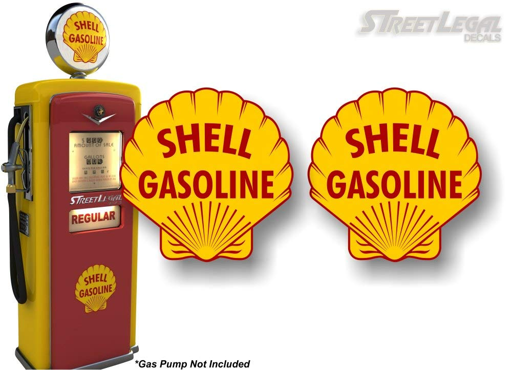 2 Vintage Shell Gasoline Antique Gas Pump 4