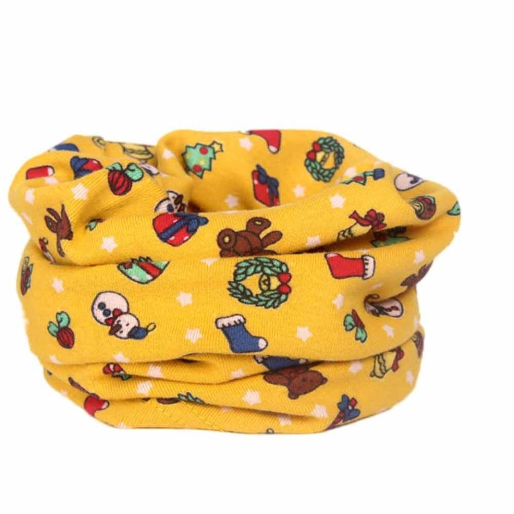 Digood Suit for 2-10 Years Old Kids Autumn Winter Boys Girls Baby Cotton Collar O-Ring Neck Scarves