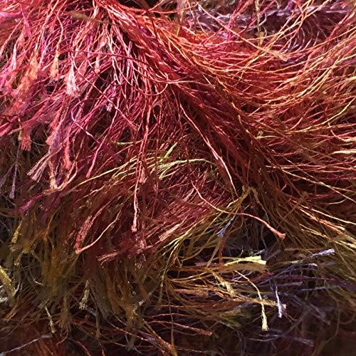 on Multi Fizz #217 Purple Gold Pink Copper Green Long Eyelash Yarn 50 Gram 66 Yards ()